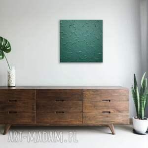 ovo design strukturalny obraz ciemna zieleń, z widocznym efektem 3d 50x50 cm