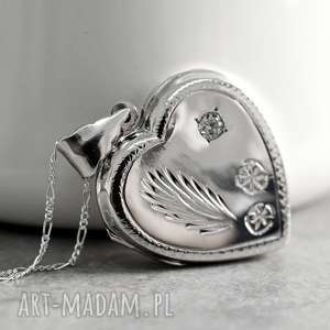 925 SERCE - srebrny medalion, serce, miłość, walentynki, serduszko, srebro,