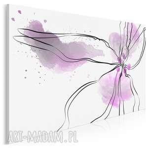 Obraz na płótnie - KWIAT FUKSJA 120x80 cm (24503), kwiat, abstrakcja