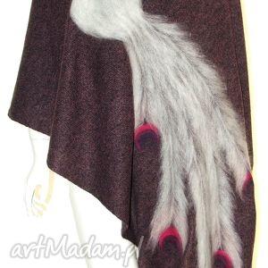 handmade szaliki szal wełną zdobiony