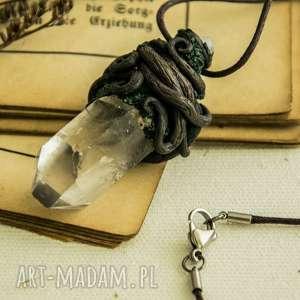 Wisior Elven , wisiior, wisiorek, kryształ, rośliny, korzenie, natura