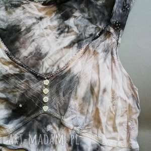bluzka bawełniana ręcznie farbowana rozmiar m, bawełna, bluzka, farbowana, lato