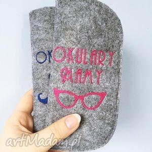 etui na okulary mamy - ,mama,mamusia,etui,okulary,filcowe,haft,