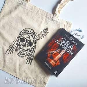 na zakupy torba bawełniana z indianinem czaszka, torba, bawełniana, indianin, boho