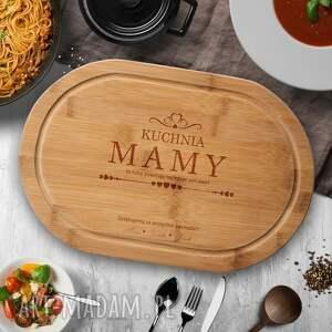 kuchnia mamy - bambusowa deska do krojenia z grawerem, prezent dla mamy