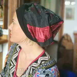 czapki czapka damska szyta patchworkowo smerfetka - box a1- rozmiar uniwersalny
