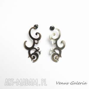 Florencja szara - kolczyki srebrne venus galeria srebro
