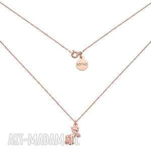 Naszyjnik z kucykiem z różowego złota - ,naszyjnik,kucyk,różowe,złoto,trendy,modowy,