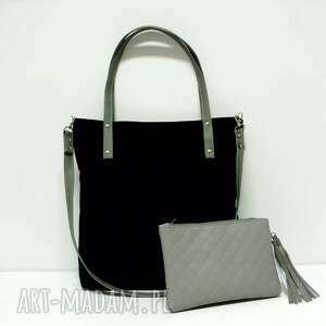 Shopper bag , czarna, shopper, modna, klasyczna, czarnaowsinka, musthave