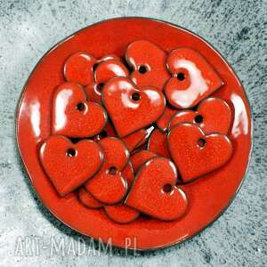 ceramika czerwone serduszko - zawieszka, serce, romantyczne, walentynki