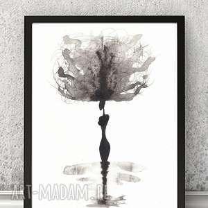 Nowoczesna grafika czarno-biała minimalizm 21x30 a4 rysunek