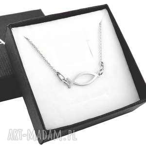 Srebrny naszyjnik symbol ichthys - ryba., srebrny, naszyjnik, symbol, ryba,