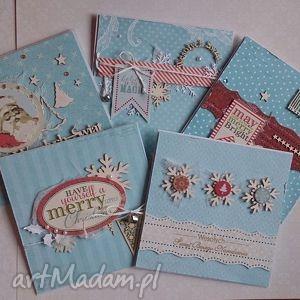 zestaw kartek świątecznich - zimowy poranek - świąteczna