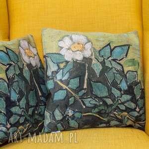 viva larte ozdobna poszewka na poduszkę, dzikie róże, van gogh, bogh, róże
