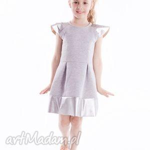 sukienka dsu07, elegancka, ekoskóra, stylowa, modna, sukienka, dziewczęca, święta
