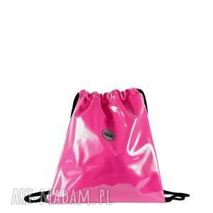 PLECAK SZNURKOWY FUKSJA, plecak, wygodny, pojemny, elegancki, modny, sportowy
