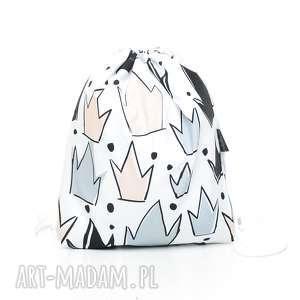 Plecak worek przedszkolaka korony dla dziecka pracownia milutka