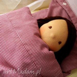 pościel w kratkę dla lalki, pościel, lalka, waldorfska, dziewczynka, prezent