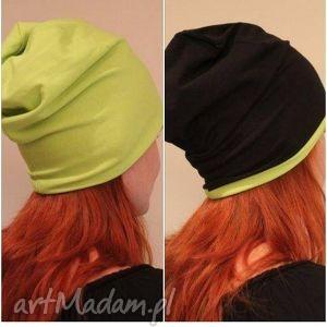czapka dresowa dwustronna dwukolorowa 2 w 1 - czapka, dresowa, beanie, oversize