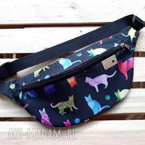catoo accessories torebka biodrowa nerka koty, w kolorowa