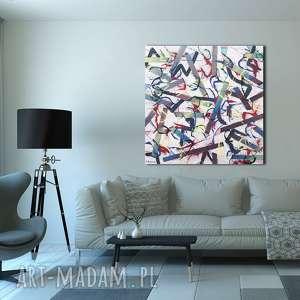 polećmy nad, obraz abstrakcyjny, do salonu, kolory