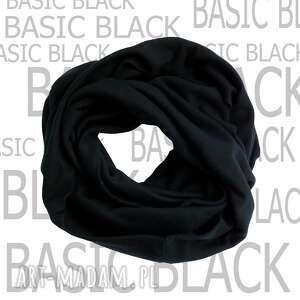freefroo bawełniany czarny komin basic black, komin, unisex, męski, męski szal