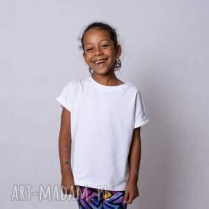 hand-made biały t-shirt dla dziewczynki
