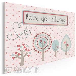 obraz na płótnie - love you always drzewa 120x80 cm 87301, love