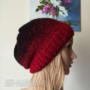Volcano czapka, rękodzieło, zima, bezszwowa, styl, wulkan