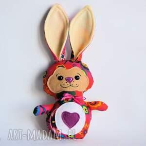 Królik torebkowy - Marta, królik, zając, wielkanoc, dziewczynka, maskotka, urodziny