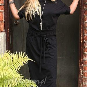 Od Ququ, sukienka, dzaininowa, wygodna, klasyczna, czarna, maxi