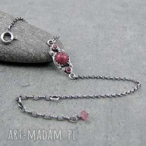 Kalejdoskop pink power, delikatna, romantyczna, kobieca, subtelna, fuksja, srebro