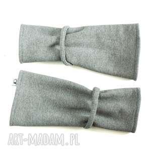 Mitenki - szare, mitenki, ciepłe, opatulacz, rękawiczki, dresowe