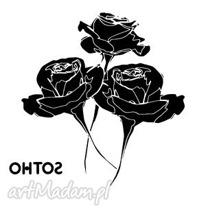 handmade akcesoria tatuaż trzy czarne róże