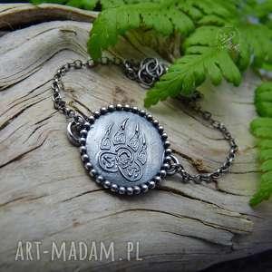 celtic paw - bracelet, srebrna bransoletka, bransoletka boho, delikatna, łapa