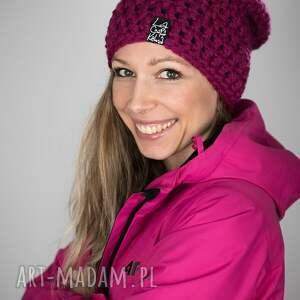 wyjątkowy prezent, czapka mono 27 - fuksjowa, czapa, snowboard, zimowa, ciepła