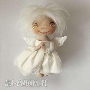 ANIOŁEK dekoracja ścienna - figurka tekstylna ręcznie szyta i malowana, aniołek