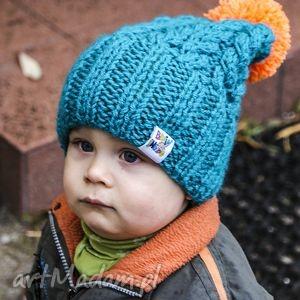 ubranka czapunia am, czapka, ciepła, kolorowa, pompon, polar, uszy