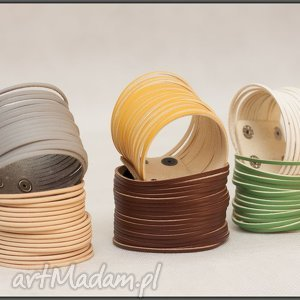 ręcznie robione bransoletki stylowe bransoletki skórzane - różne kolory