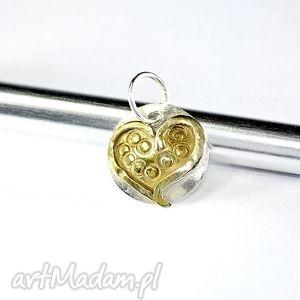 zawieszka serduszko, serce, zawieszka, srebro, złocone wisiorki biżuteria