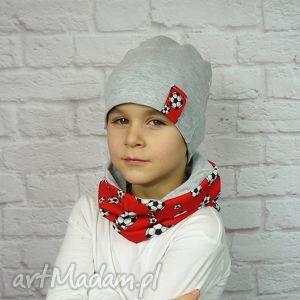 bukiet-pasji cienka czapka i komin - chłopak, wiosenna