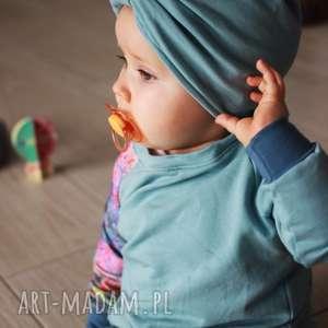 bluza dla dziewczynki lato 74-98 cm, bawełniana, błękitna bluza