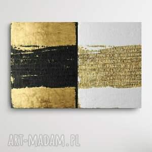 contrasico - wielkoformatowy obraz na płótnie abstrakcyjny art, złoty