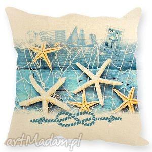 pomysł na świąteczny prezent Poduszka morska , muszle, morze, poduszka