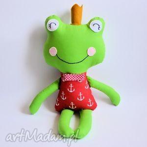 maskotki żabka - książę w kotwice, żabka, książę, marynarz, chłopczyk, maskotka