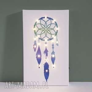 dekoracje świecący obraz łapacz snów prezent dziecko lampka dekoracja