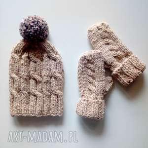 czapka i rękawiczki p katarzyna, czapka, rękawiczki
