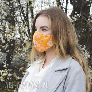 maseczka profilowana pomarańczowa, maseczka, progilowana, damska