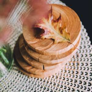 podstawki drewniane 6 sztuk / podkładka pod kubek olcha, skandynawski, skandi, scandi