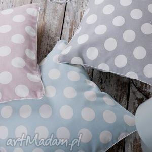 ręcznie zrobione poduszki poszewka na poduszkę kropy - 3 kolory